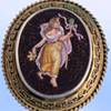 Rare very old Antique Roman Mid 1800's Micro Mosaic brooch/pendant depicting Goddess Maiden Mythology