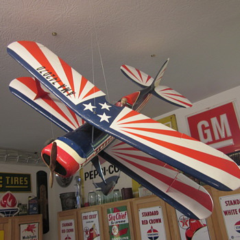 Vintage Model Biplane - Toys