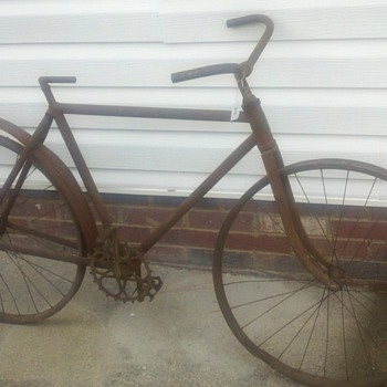 Early 1900&#039;s Racycle (wood rim bicycle)