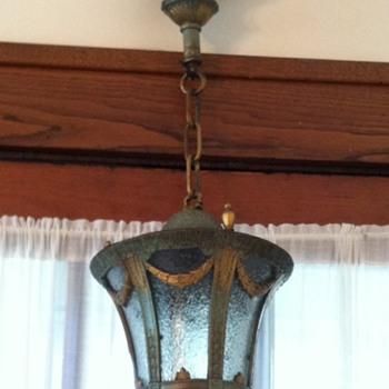 1920s Art Deco ceiling pendant