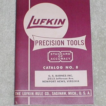 1955 Lufkin Precision Tools Catalog - Paper