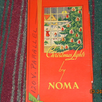 Vintage 1948-49 Noma C7 berry lights in original box