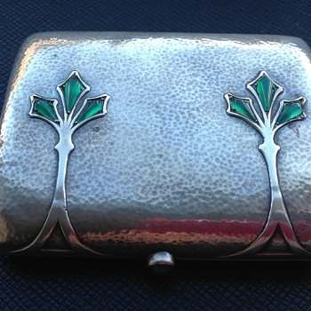 Silver Cigarette Case or Card Case by Heinrich Levinger