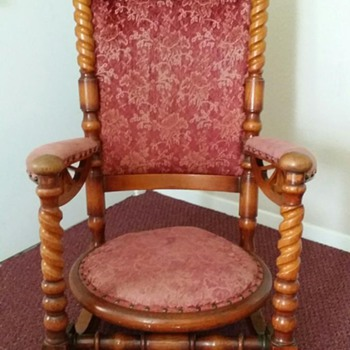 Antique Platform Rocking Chair - Furniture