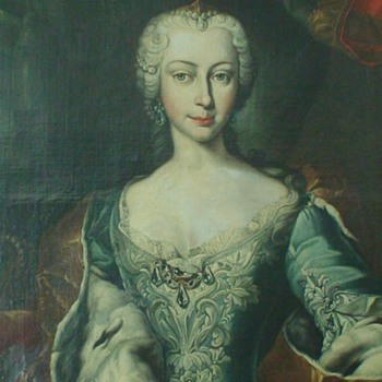 Maria Teresa Mother Of  Marie Antoinette Very Large Portrait After Martin van Meytens Yr - Visual Art
