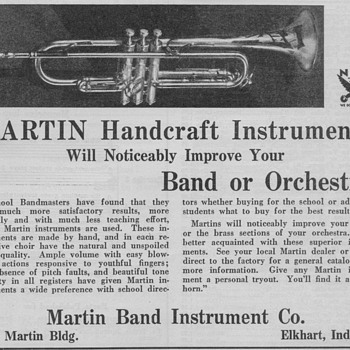 1934 - Martin Band Instruments Advertisements