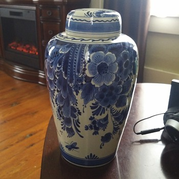 Delft Blue Urn - Art Pottery