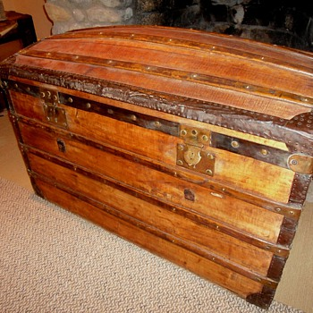 Antique French Trunk - Furniture