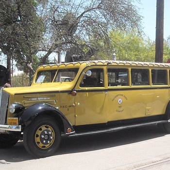 Late1930s Yellowstone Tour Bus