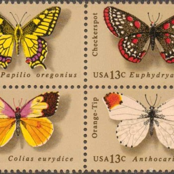 "1977 - ""Butterfly Issues"" Postage Stamps (US) - Stamps"