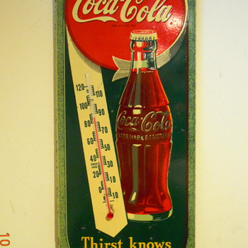 1944 Coca-Cola Thermometer