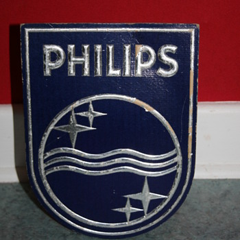 philips cardboard sign display