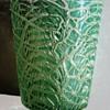 Durand Green & White Moorish Crackle Vase c.1925.