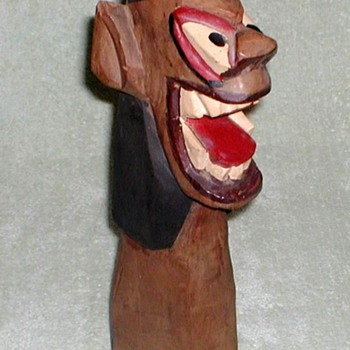 Amazon Indian Wood Totem - Folk Art