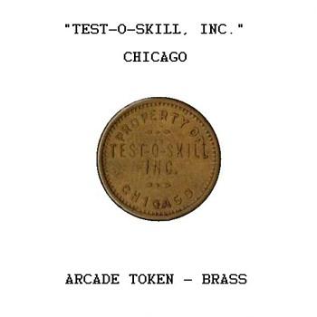 """Test-O-Skill"" - Arcade Token - US Coins"