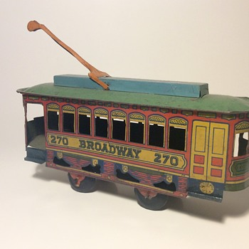Tin toy Cable car