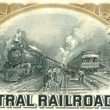 More Great Railroad Stock Engraver's Art - Railroadiana
