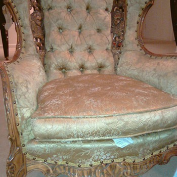 Deutsch Bros Wingback Carved Chair