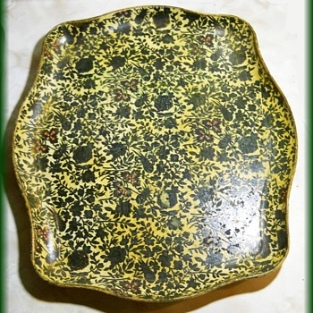 "Vintage JAPAN TRAY ---->  CHINTZ Floral "" Paper Mache "" Tray"