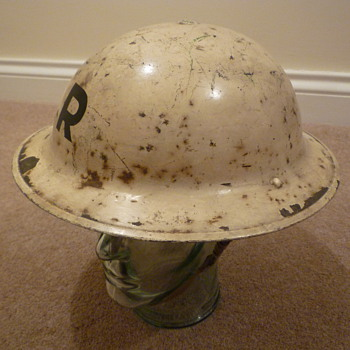British WWII Rescue Party steel helmet - Military and Wartime