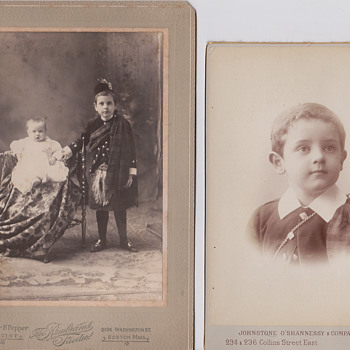 Cabinet cards possible same boy?
