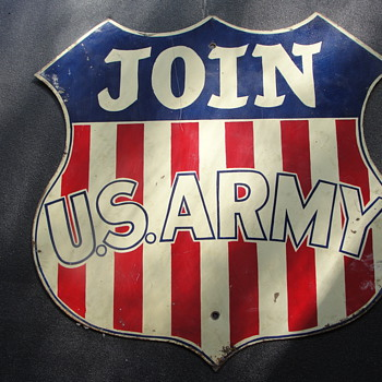 Join US Army Railway Sign