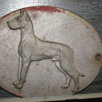 Vintage Great Dane Plaque - Animals