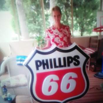 Original. Phillips 66 lighted canopy sign