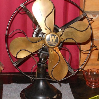 Westinghouse Electric Oscillating Fan with Brass Blades - Tools and Hardware