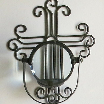 Candle Magnifying Glass Wall Sconce age unknown