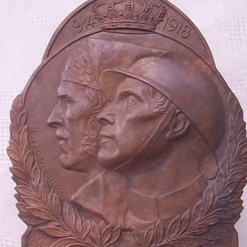 Volunteer Combatant's Plaque, Belgian WWI - Military and Wartime