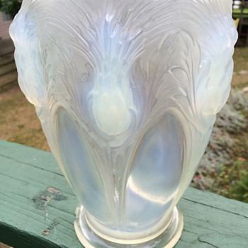 Antique Opalescent Vase-Lalique? - Art Glass
