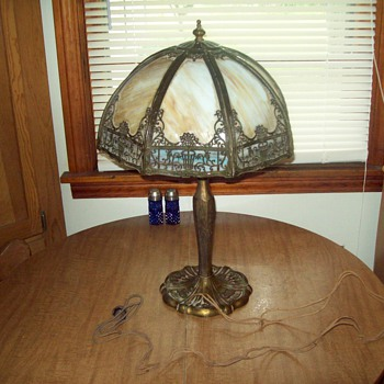 Antique Leaded lamp   Handel maybe?