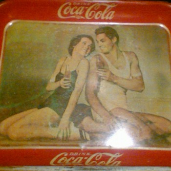 Coca cola tray 1934