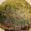 U.S. M-1 Helmet Used in Vietnam with Original Graffiti on Helmet Cover