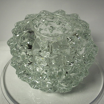 "Clear vase""??""Strange design. - Art Glass"
