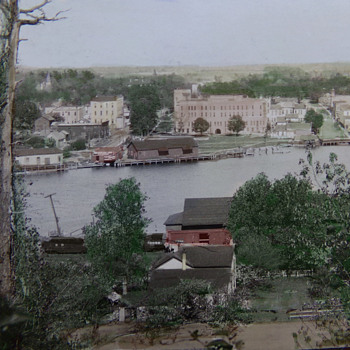 Tinted Postcard. 1918 Pentwater, Michigan.  - Postcards