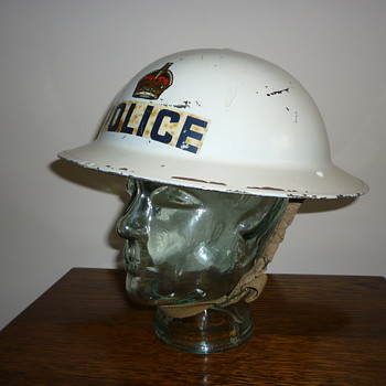 British WWII Police Senior Officers steel helmet. 1939 - Military and Wartime