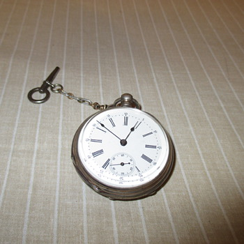 S & W Key Wind Cylindre Huit Rubis Pocket Watch