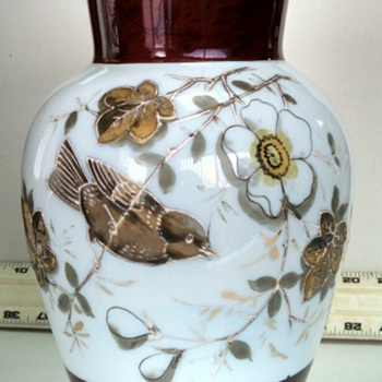 Beautiful, delicate vase acquired in Japan of unknown origin.
