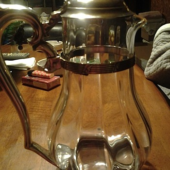 central park casino lidded water pitcher by international silver co