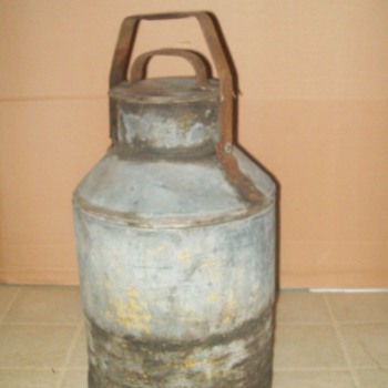 Old 5 gallon oil can