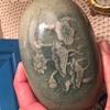 Pottery trinket box - oval