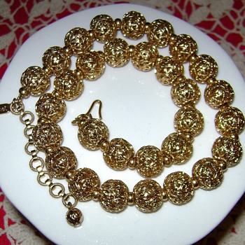 Monet Necklace - Costume Jewelry