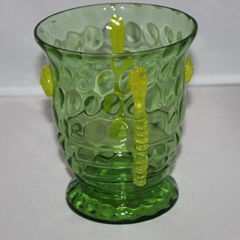 Lovely Green Vase - Art Glass
