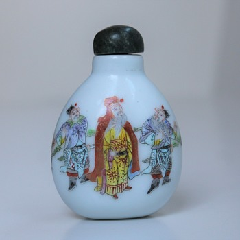 Famille Rose Daoguang Porcelain Snuff Bottle
