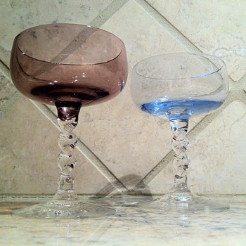 3 inch Miniature Glass Stemware - Art Glass