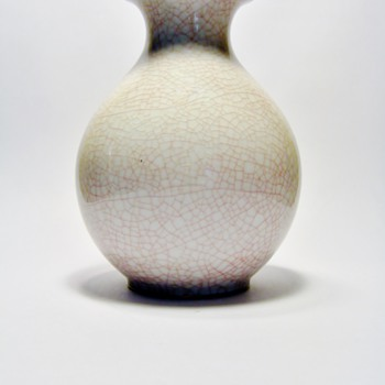 "FURSTENBERG -GERMANY/""CRACKLED VASE "" - Art Pottery"