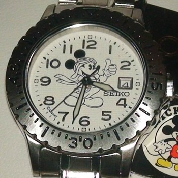 DISNEY SEIKO MICKEY AVIATOR-PILOT WATCH