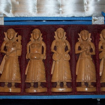 Asian Carved Figures  - Asian